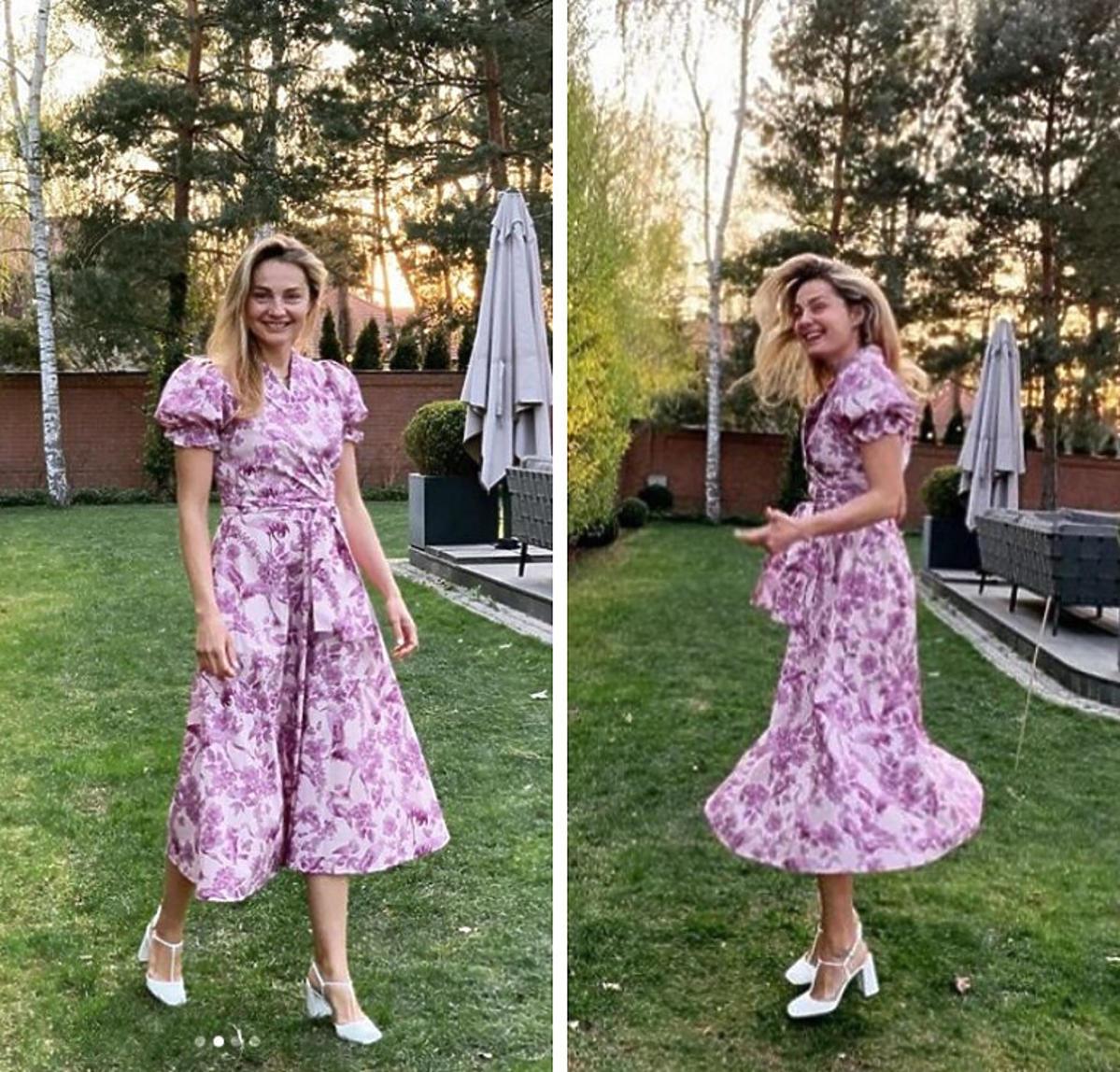 Małgorzata Socha w różowej sukience