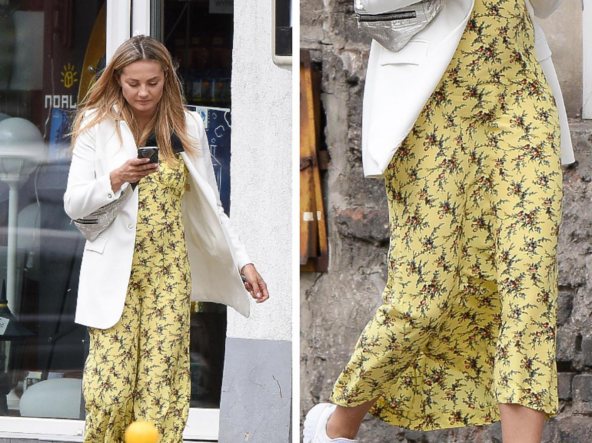 Małgorzata Socha w żółtej sukience