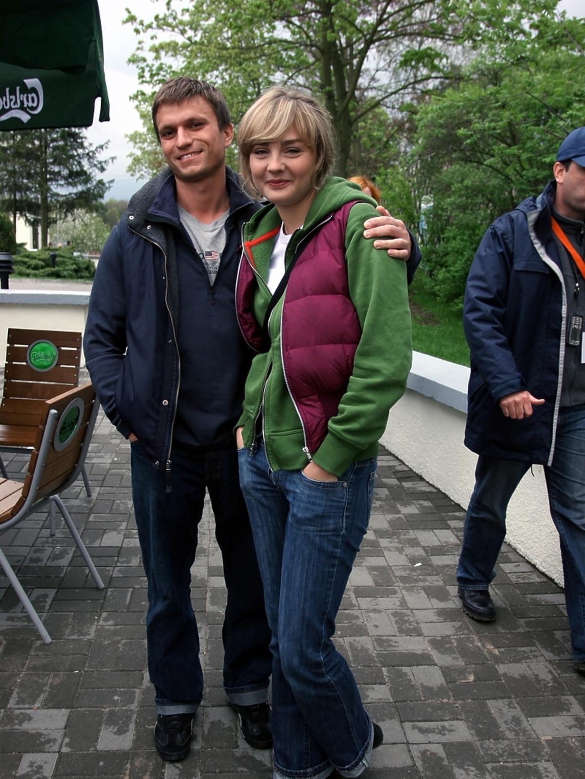 Małgorzata Socha z mężem 10 lat temu