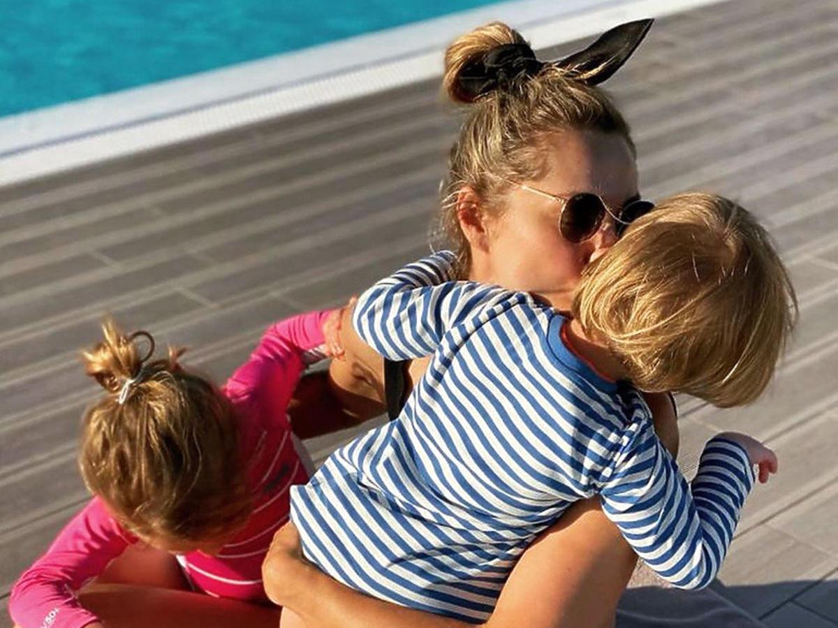 Małgosia Socha z dziećmi