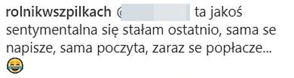 Małgosia z Rolnik szuka żony - komentarz