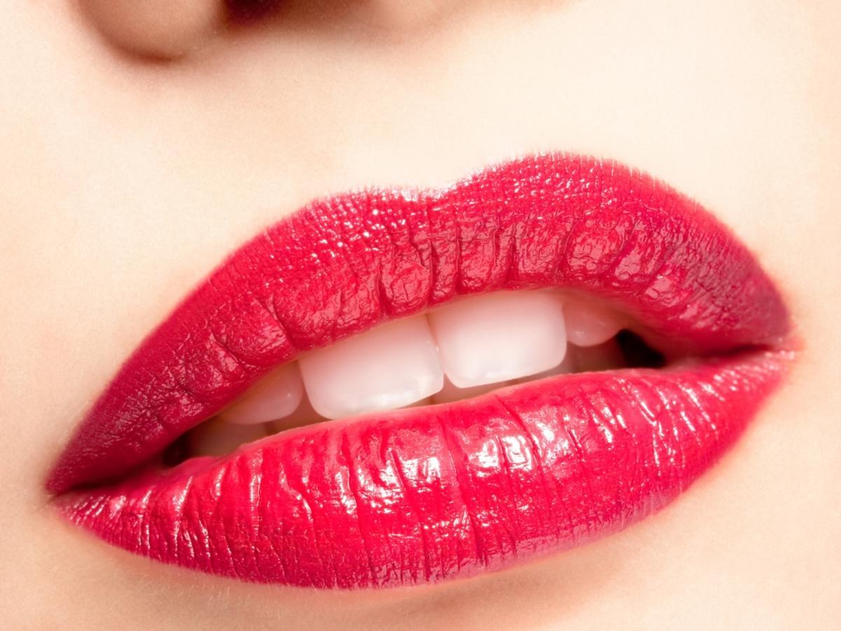 malinowe usta