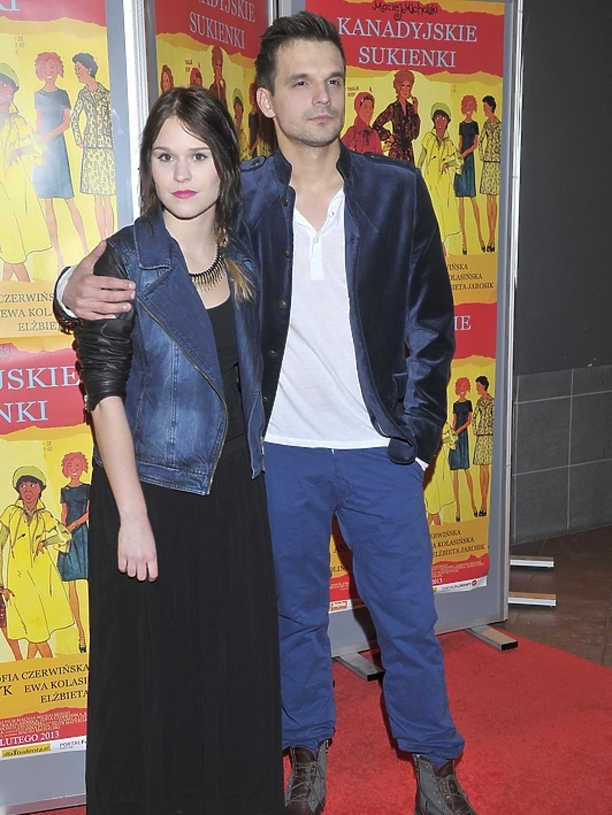 Malwina Buss i Sebastian Cybulski na premierze filmu Kandayjskie sukienki