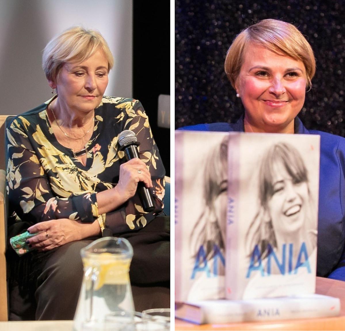 Mama Anny Przybylskiej, Krystyna Przybylska oraz siostra aktorki podczas premiery książki