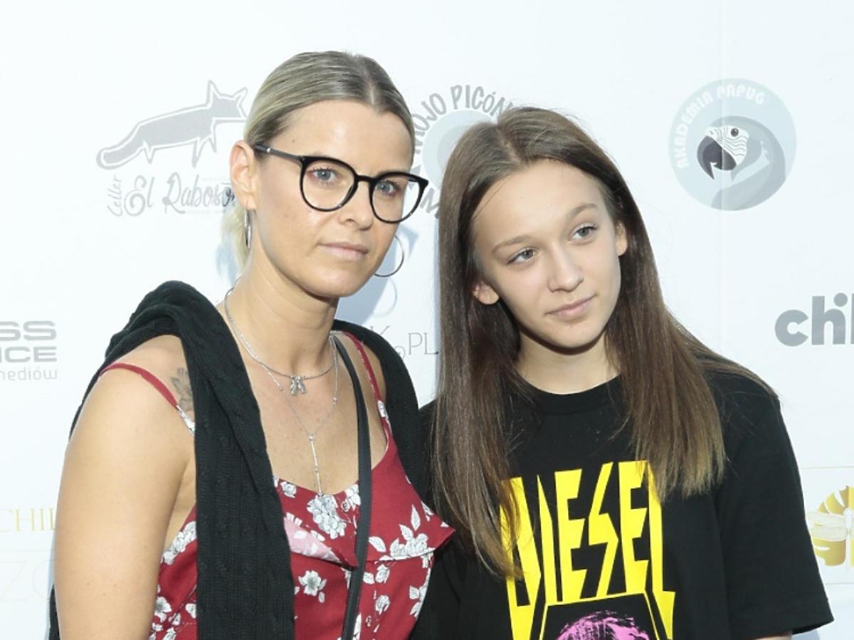 Mandaryna z córką Fabienne Wiśniewska