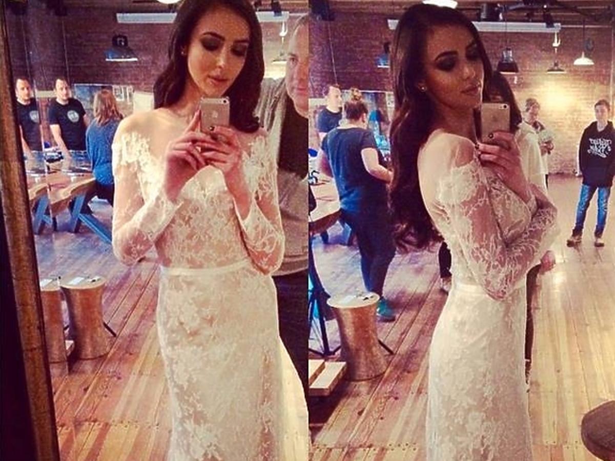 Marcelina Leszczak w sukni ślubnej na Instagramie