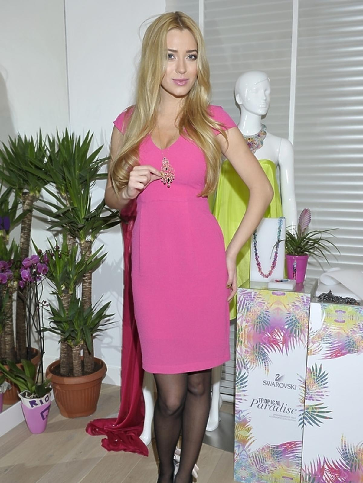 Marcelina Zawadzka na pokazie kolekcji Swarovski - lato 2013