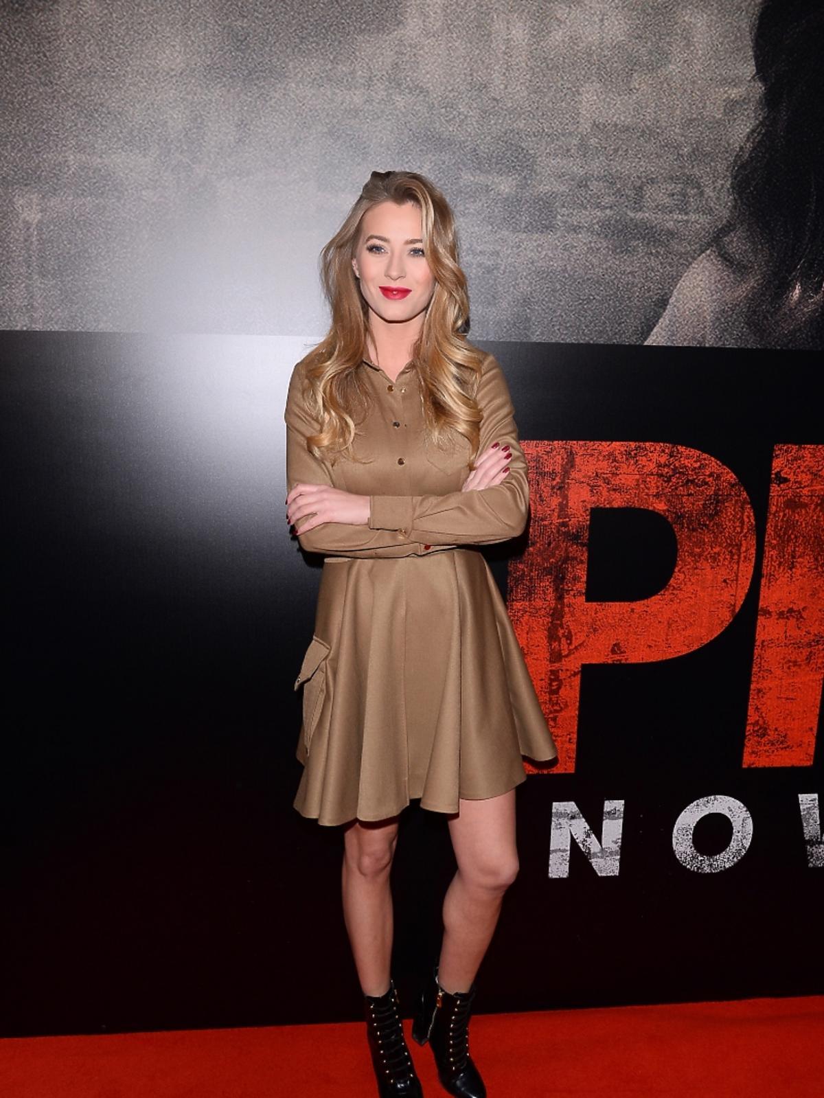 Marcelina Zawadzka na premierze filmu