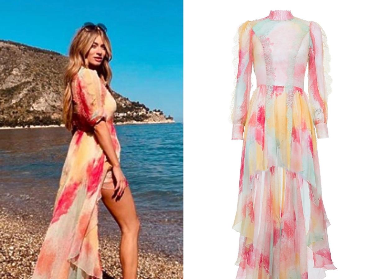 Marcelina Zawadzka zdjęcie z wakacji w sukni Elisabetta Franchi