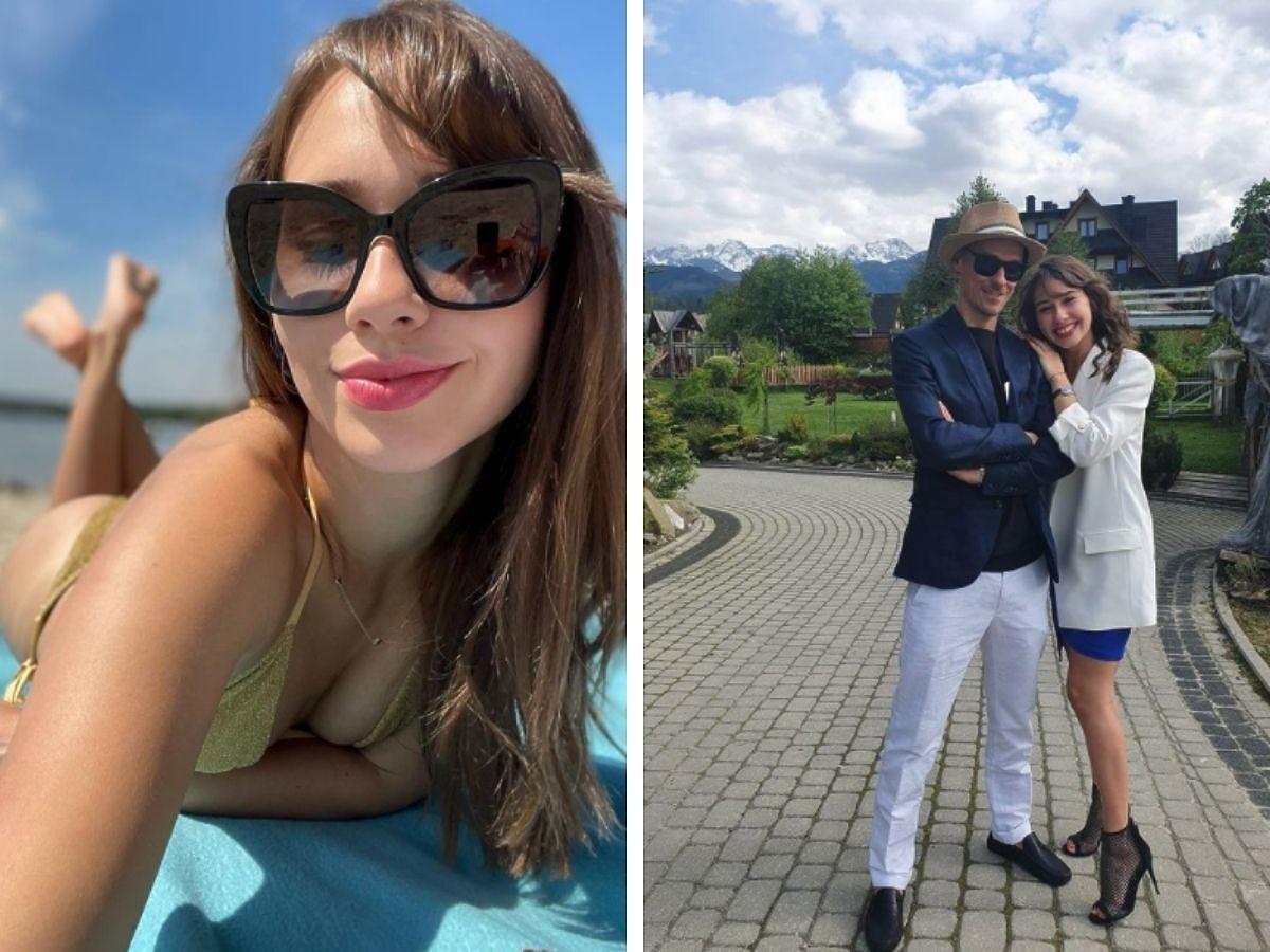Marcelina Ziętek na wakacjach, obok pierwsze zdjęcie z Piotrem Żyłą
