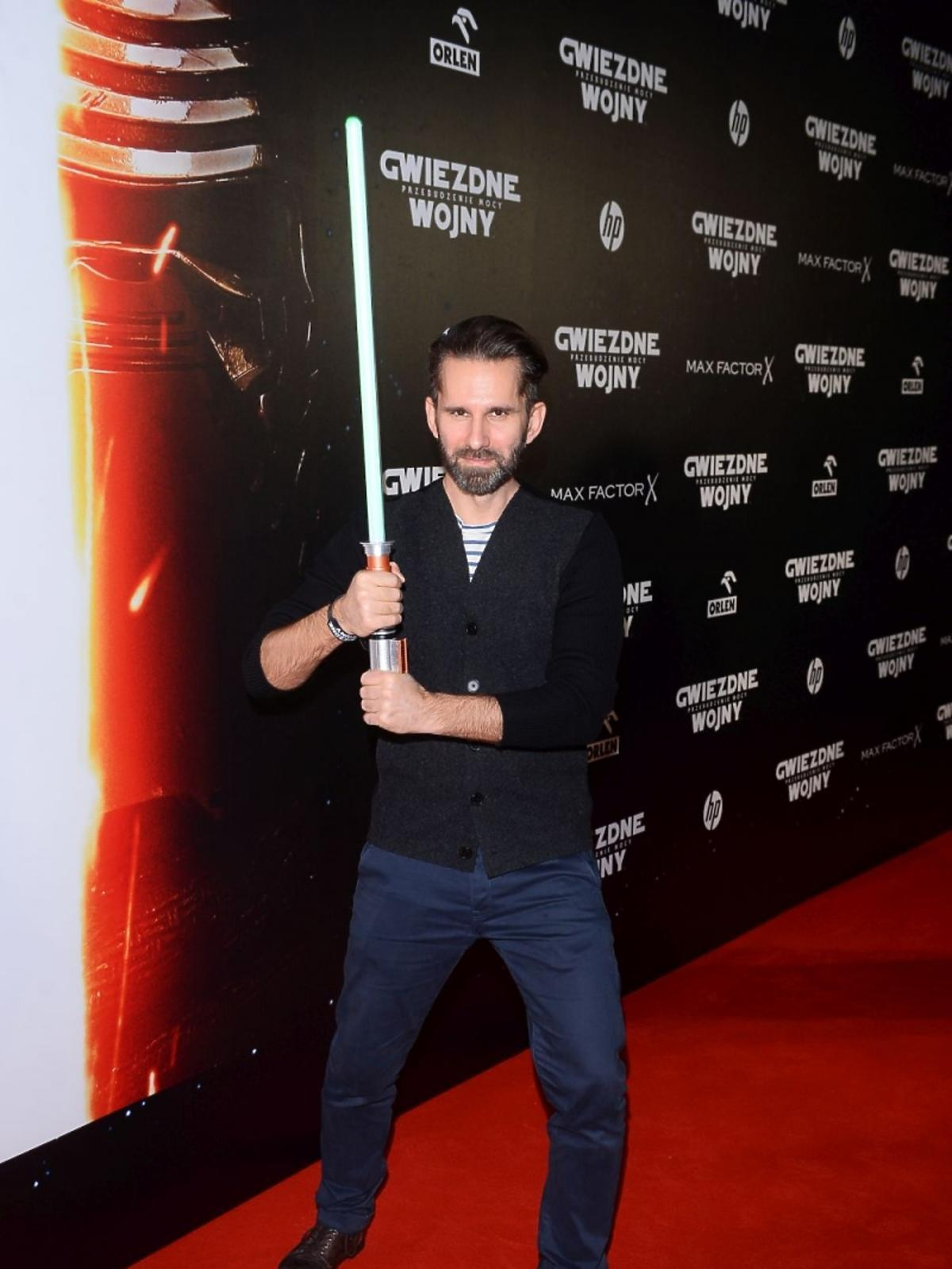 Marcin Bosak z mieczem
