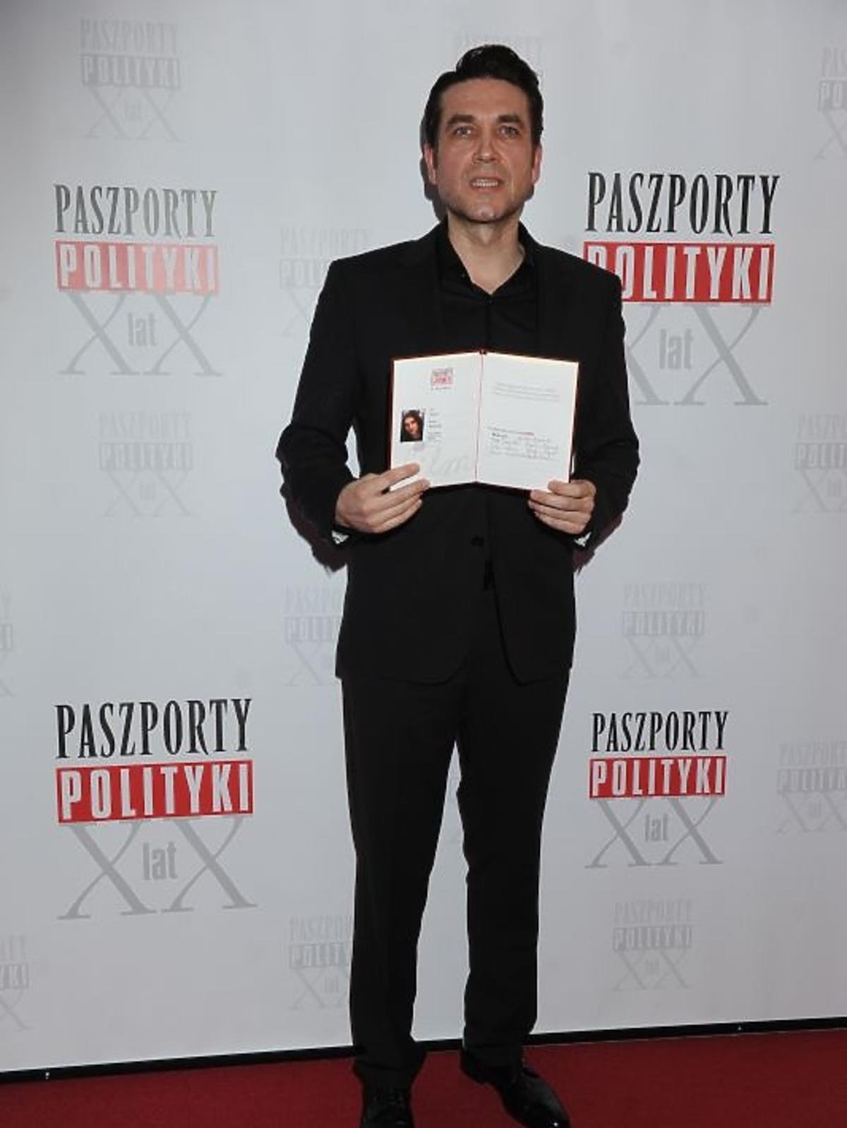 Marcin Dorociński na gali Paszporty Polityki 2012