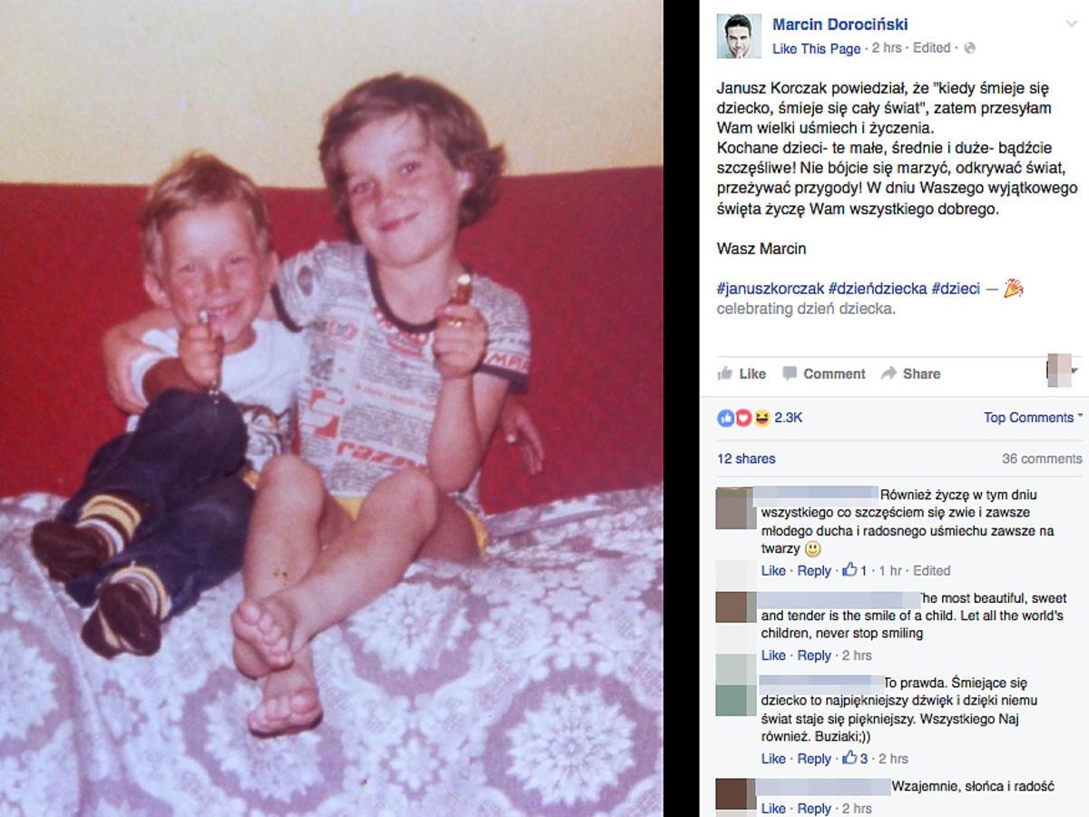 Marcin Dorociński w dzieciństwie