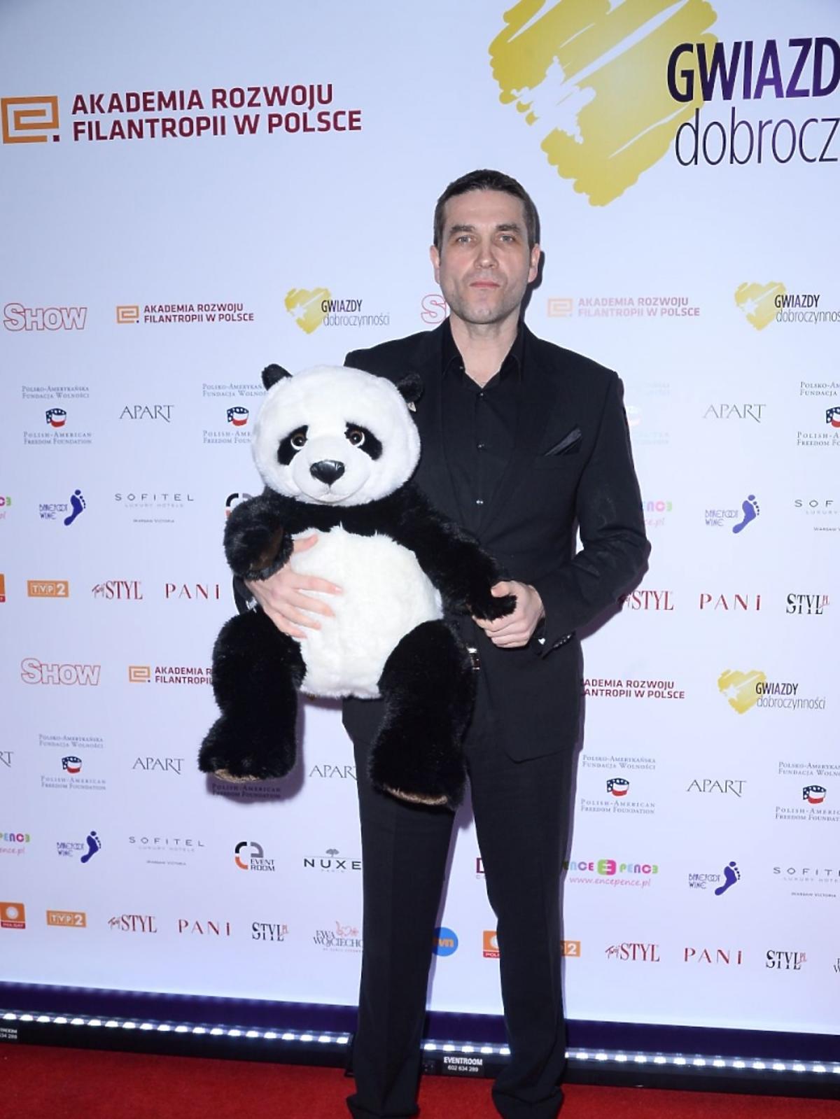 Marcin Dorociński z pandą