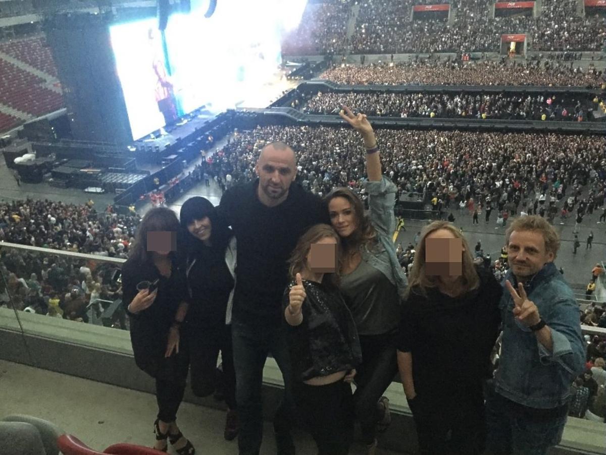 Marcin Gortat i Alicja Bachleda-Curuś na koncercie Beyonce