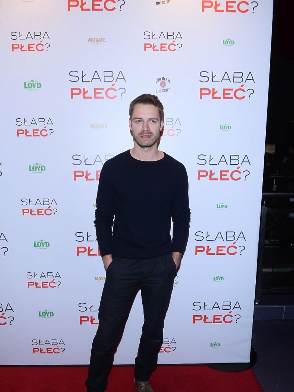 Marcin Korcz na premierze filmu