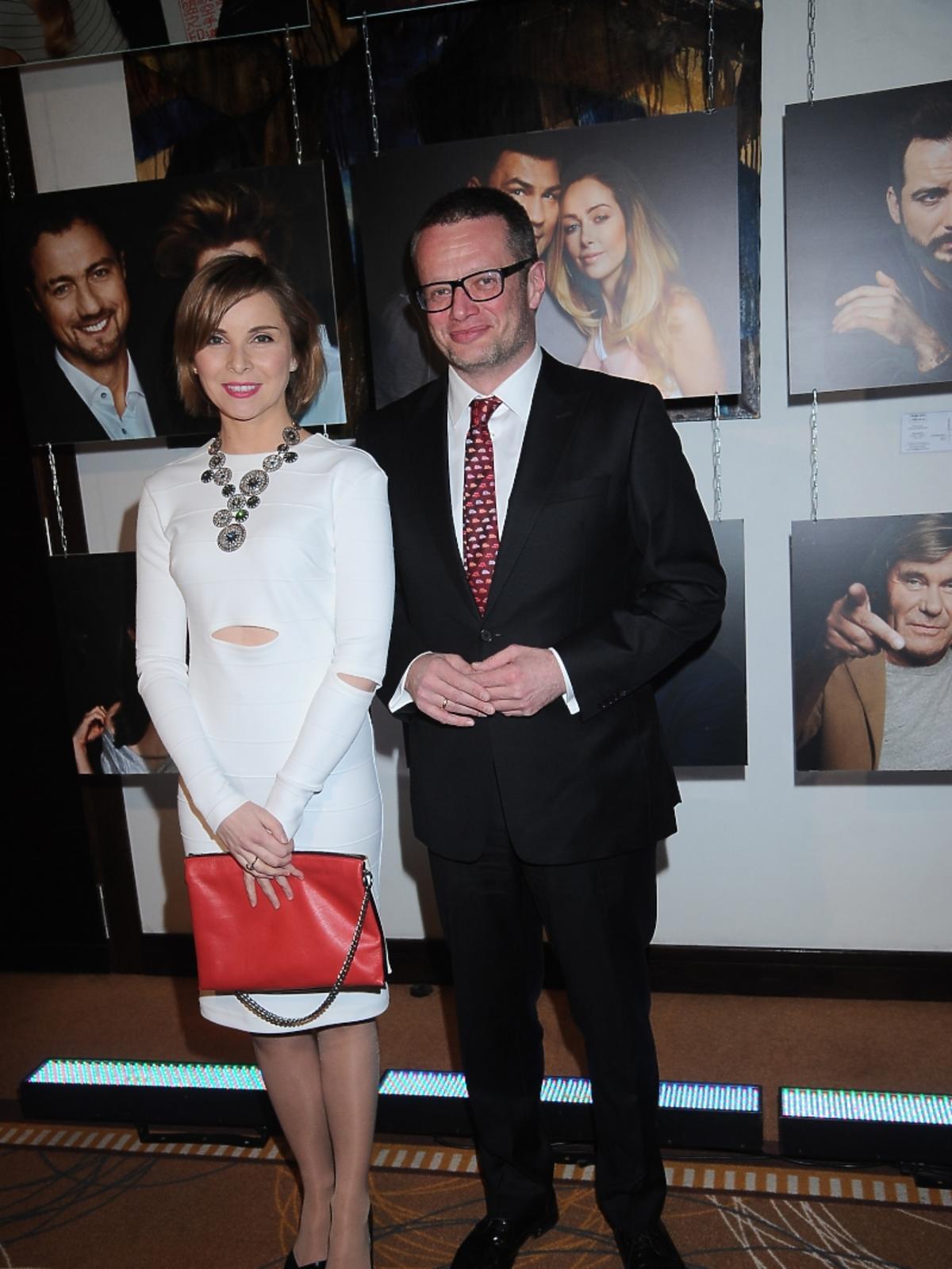 Marcin Meller i Anna Dziewit- Meller na gali