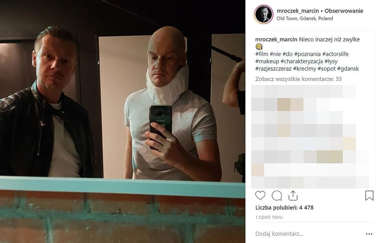 Marcin Mroczek jest łysy?