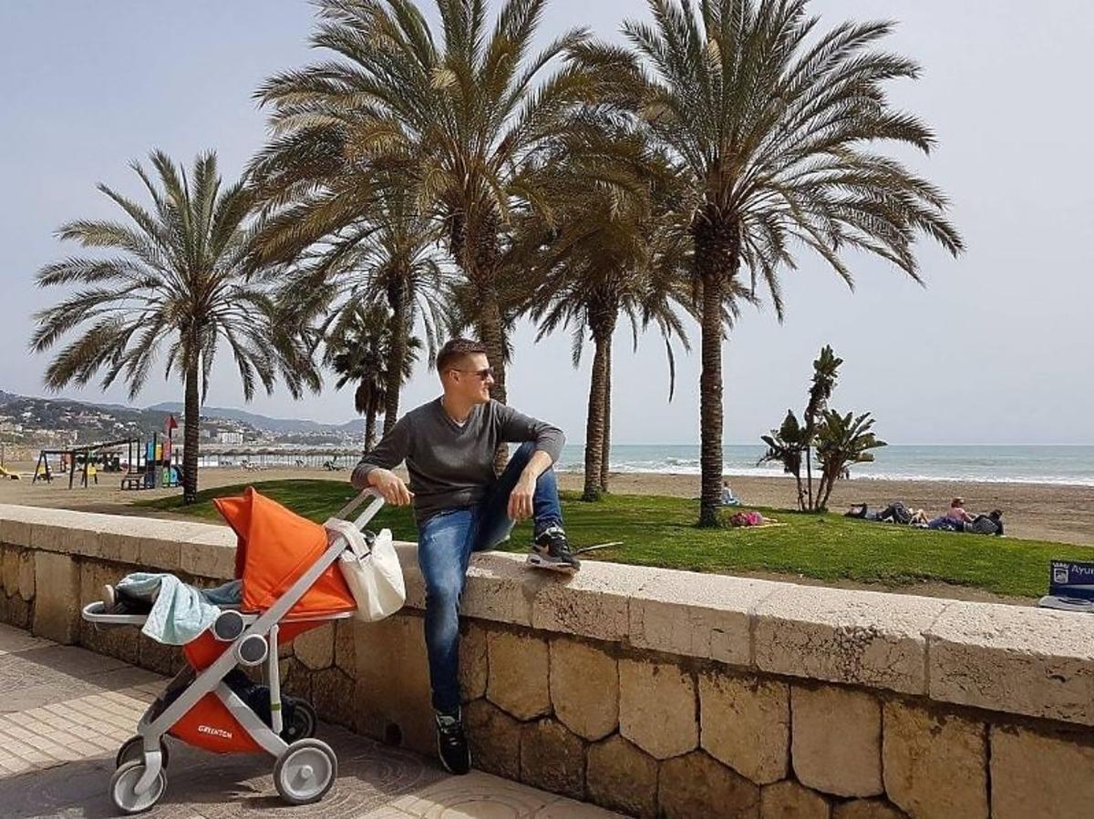 Marcin Mroczek z rodziną na wakacjach