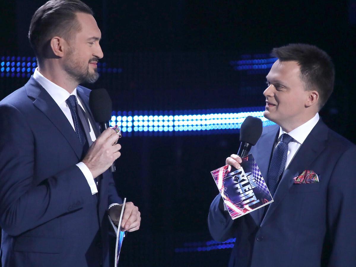 """Marcin Prokop i Szymon Hołownia w """"Mam talent"""""""