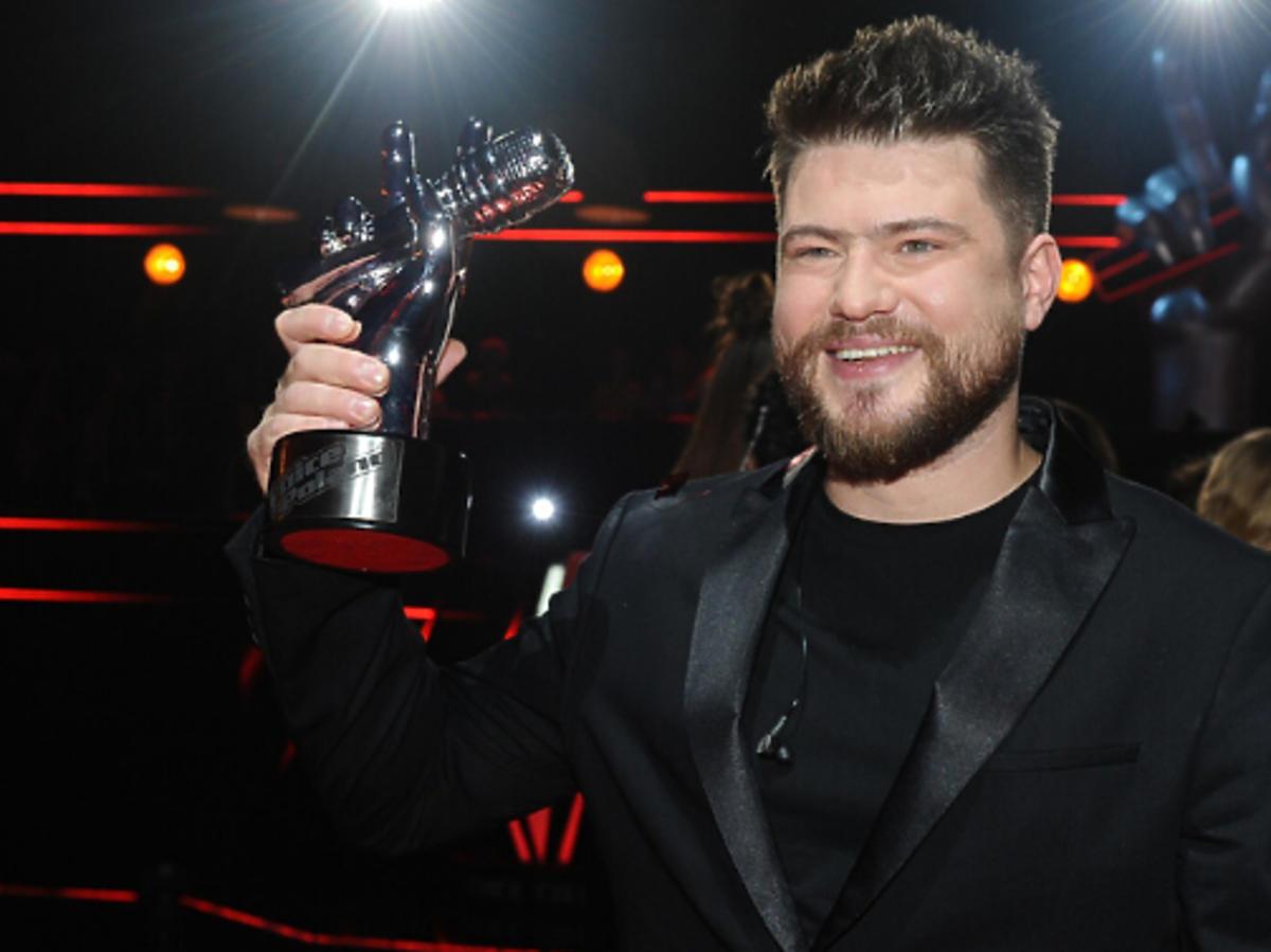 "Marcin Sójka na planie programu ""The Voice of Poland"""