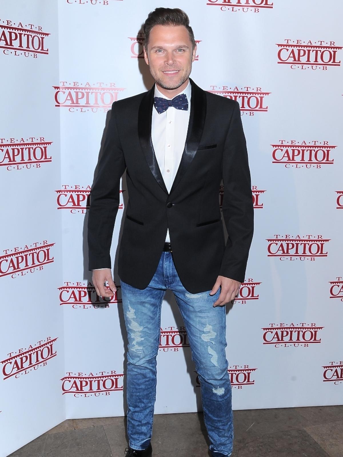 Marek Kaliszuk na premierze spektaklu