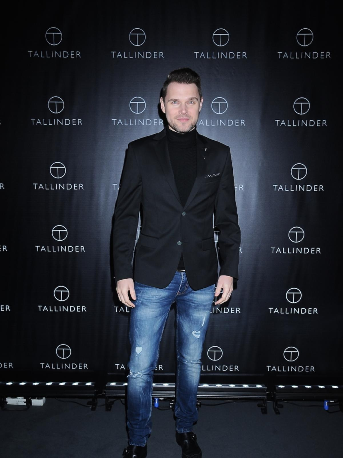 Marek Kaliszuk na prezentacji marki Tallinder
