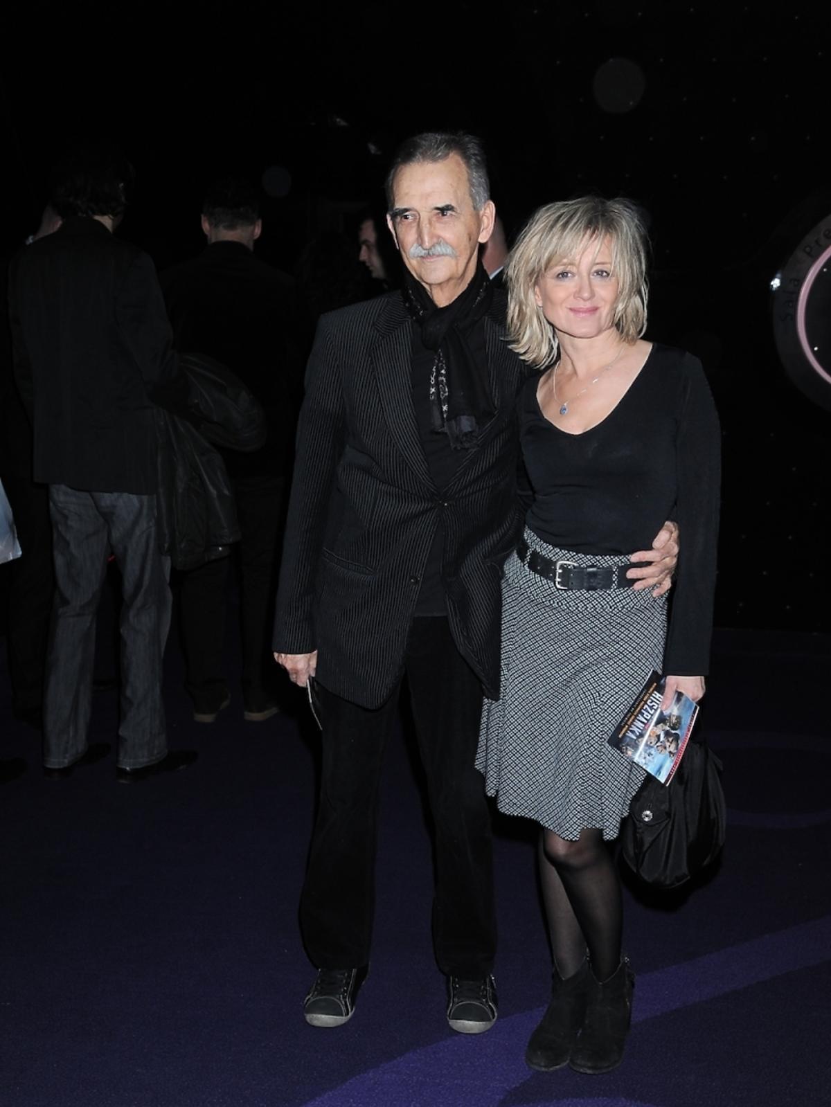Marek Koterski z żoną na premierze filmu