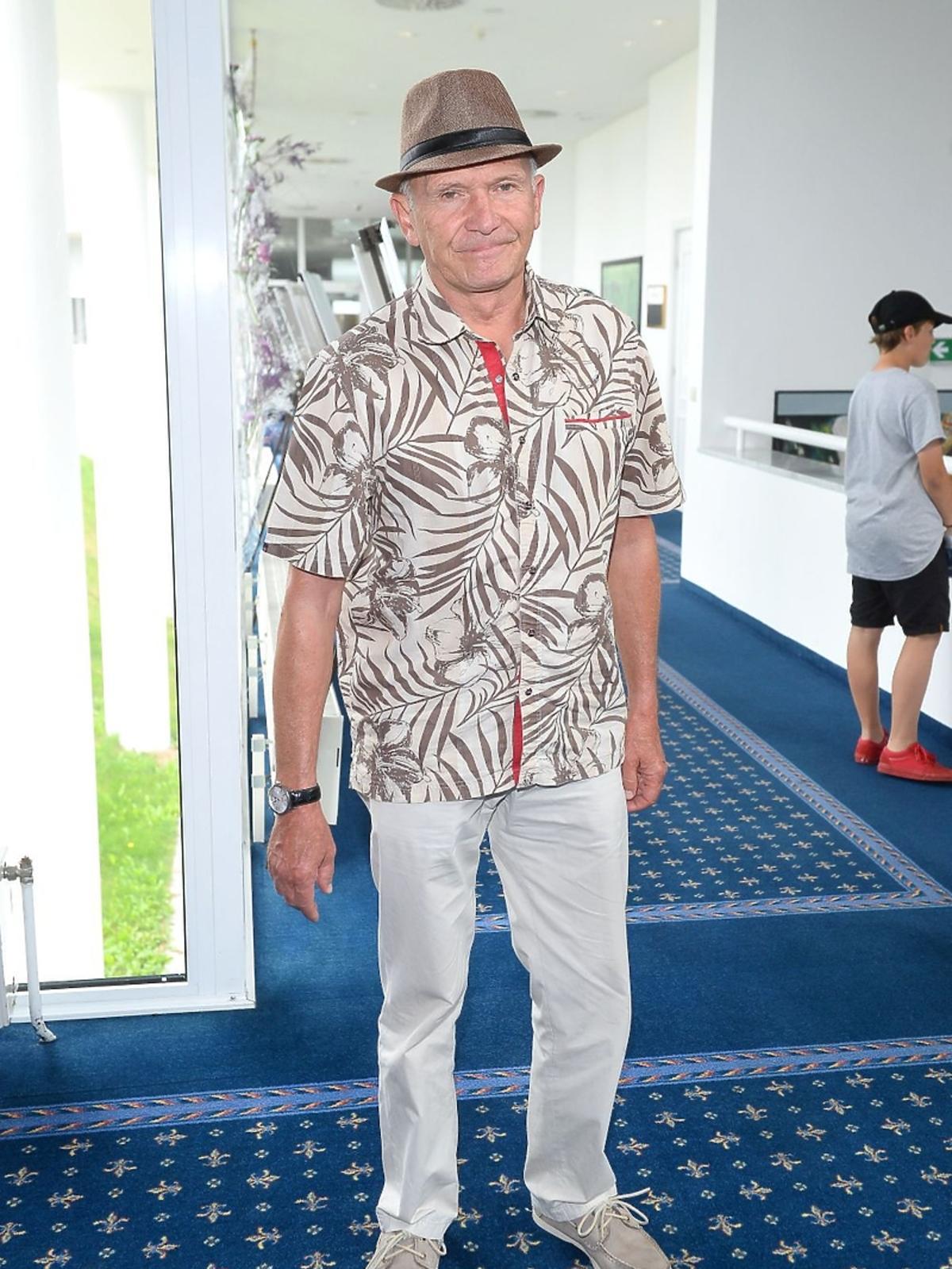 Marek Siudym w kapeluszu