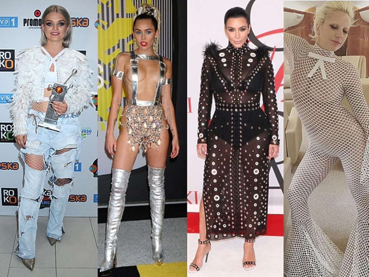 Margaret, Miley Cyrus, Kim Kardashian, Halina Mlynkova w złych stylizacjach