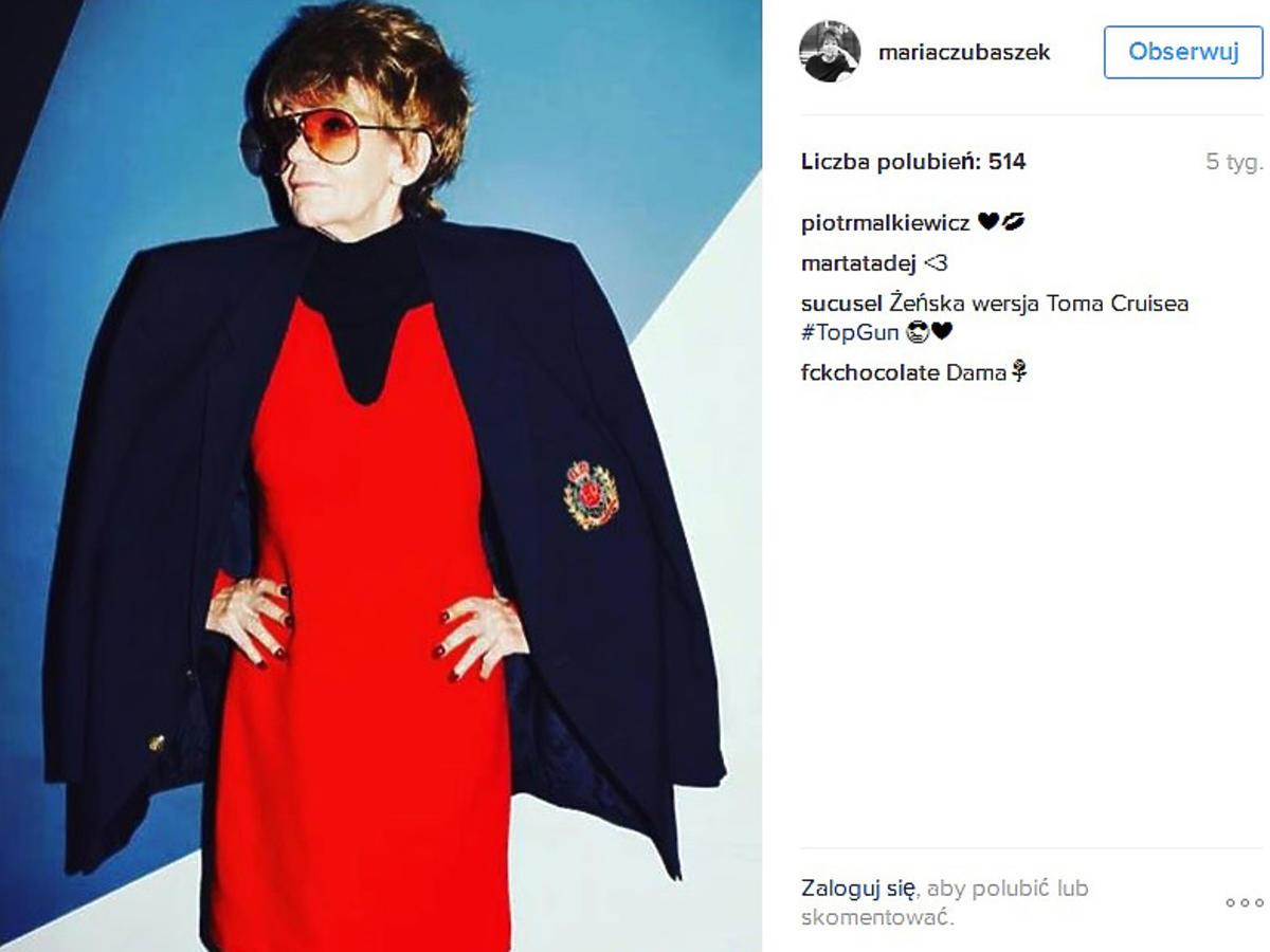 Maria Czubaszek na Instagramie