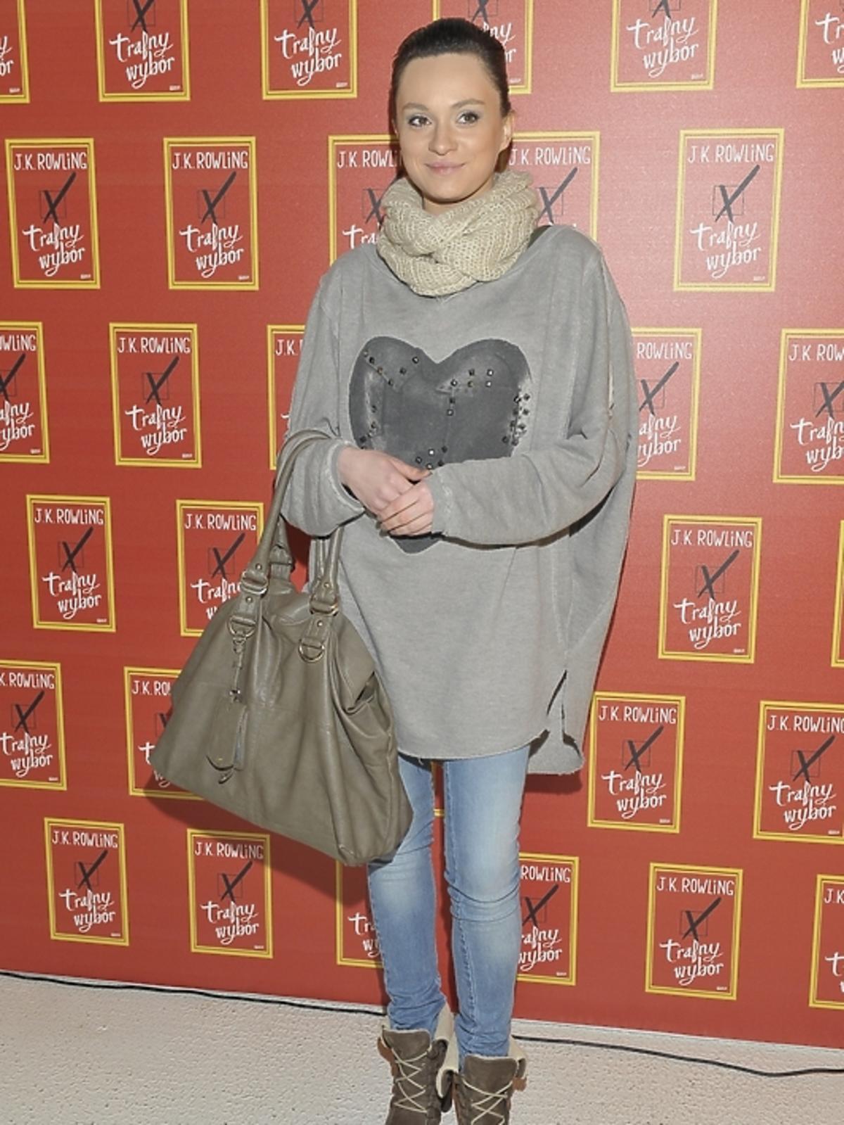 Maria Dejmek na premierze książki J.K.Rowling