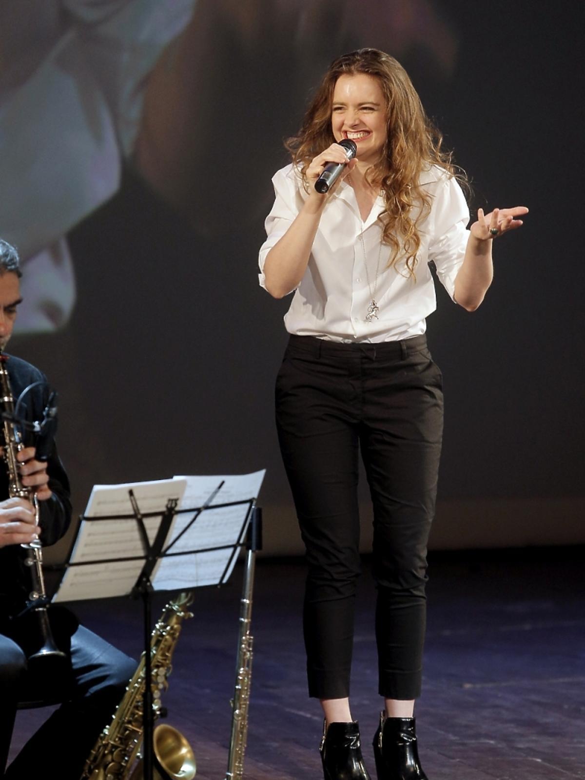 Maria Niklińska na koncercie