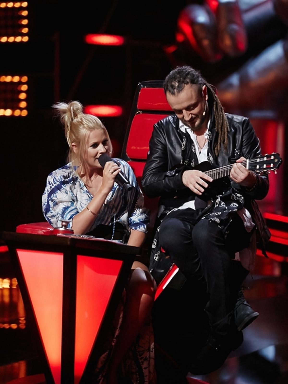 Maria Sadowska i Baron na planie The Voice of Poland 6