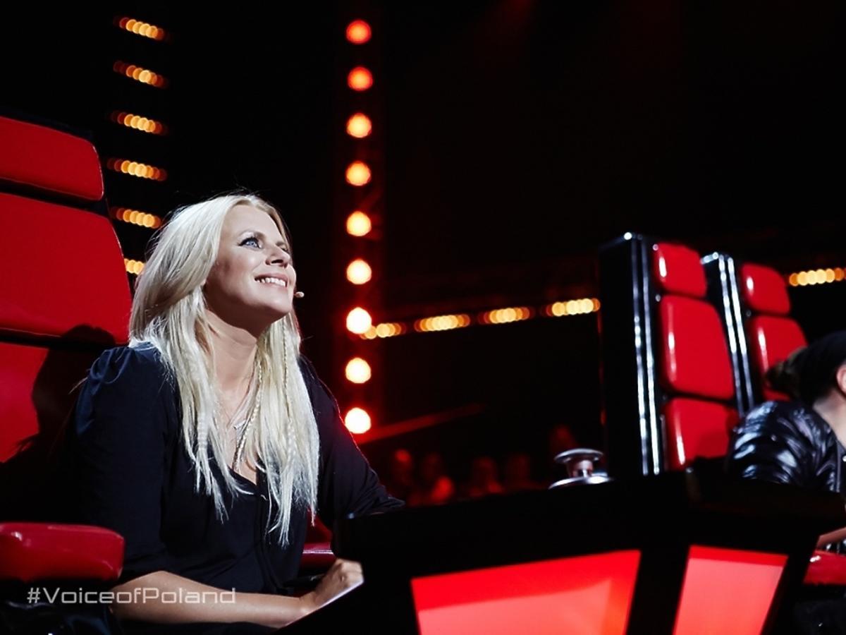 Maria Sadowska na planie The Voice of Poland 6