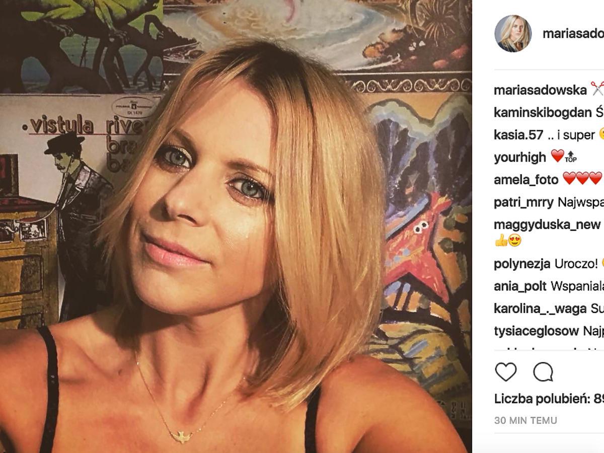 Maria Sadowska ścięła włosy