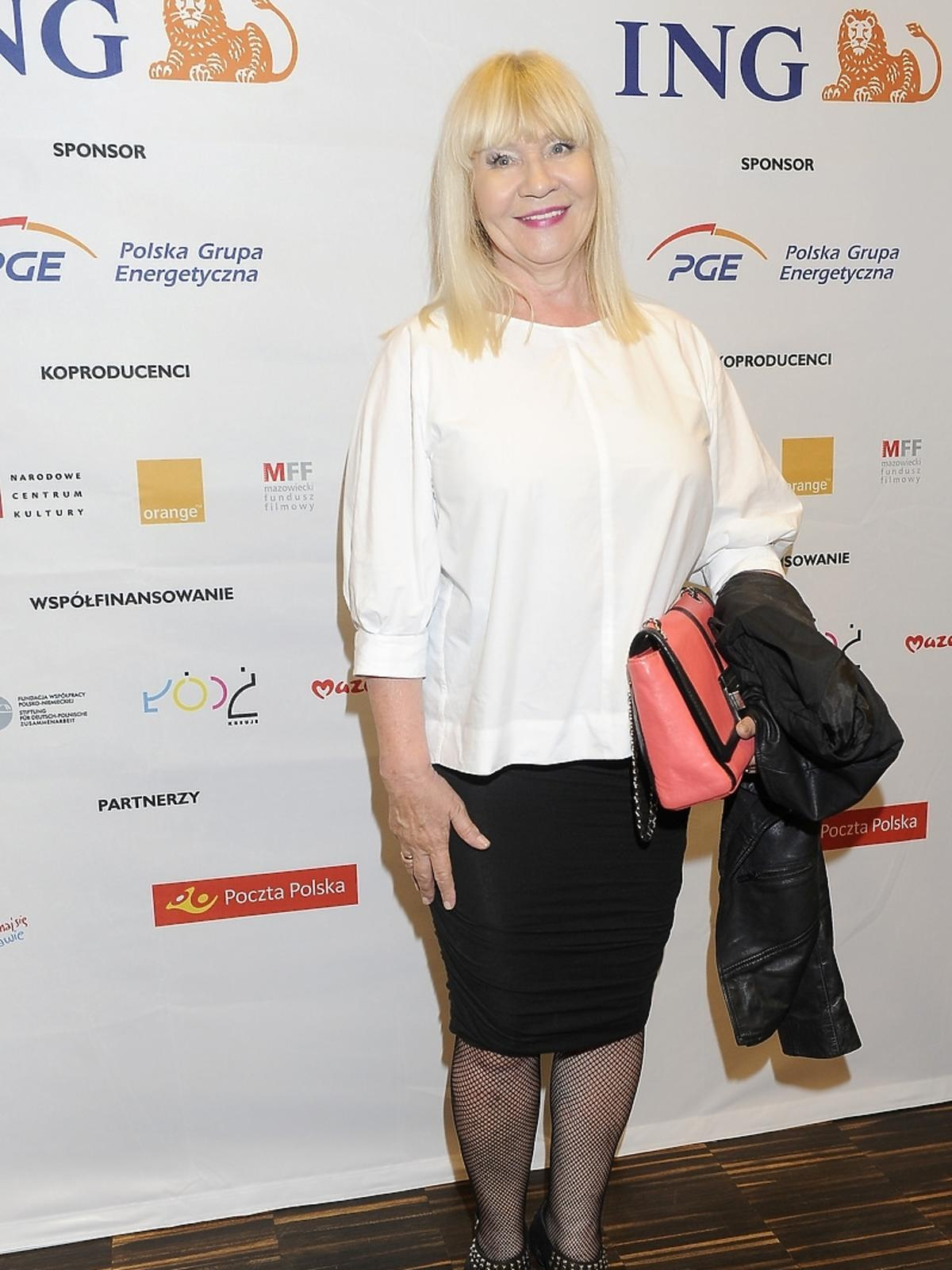 Maria Szabłowska na premierze filmu Miasto 44