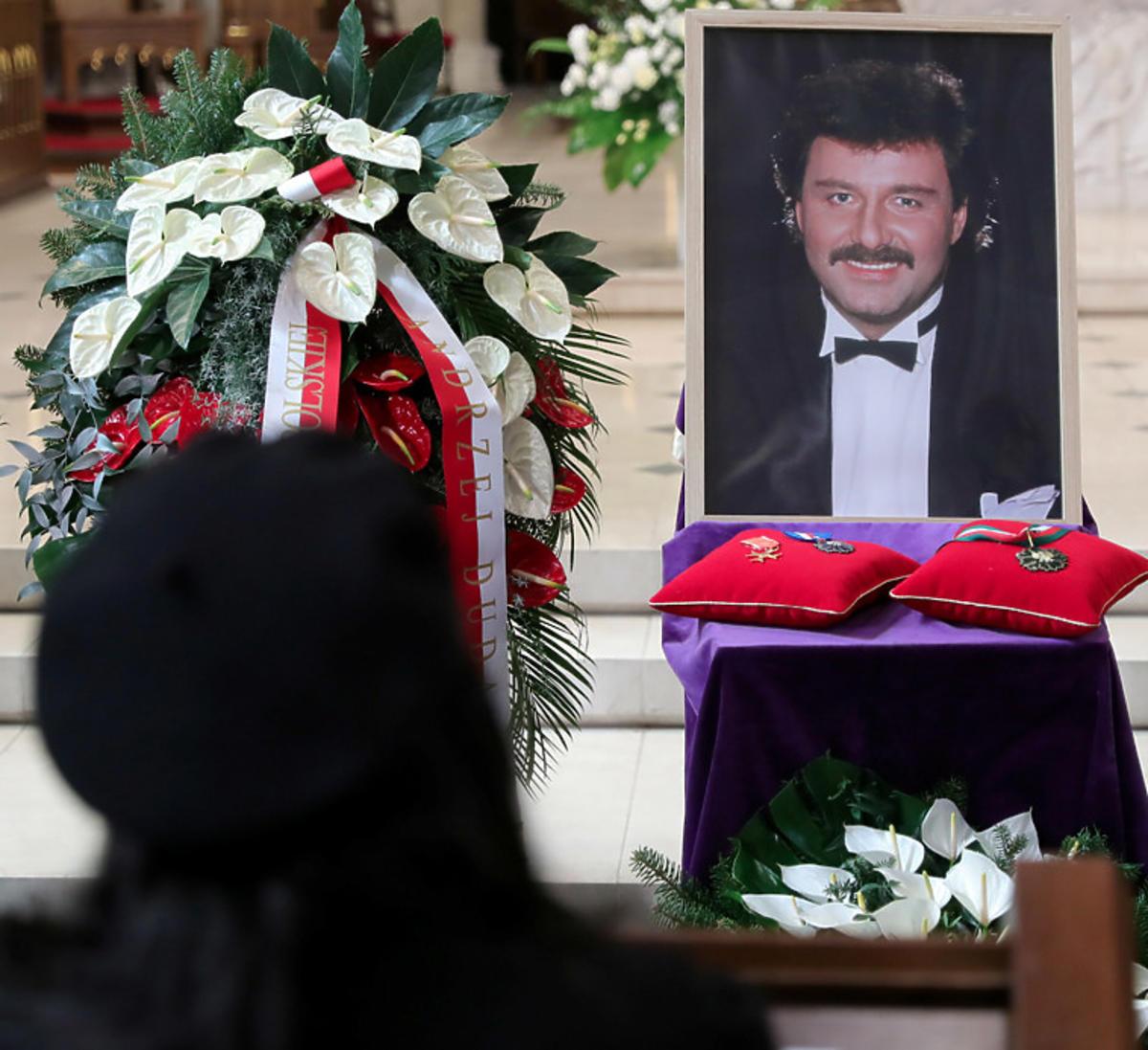 Marian Lichtman na pogrzebie Krzysztofa Krawczyka