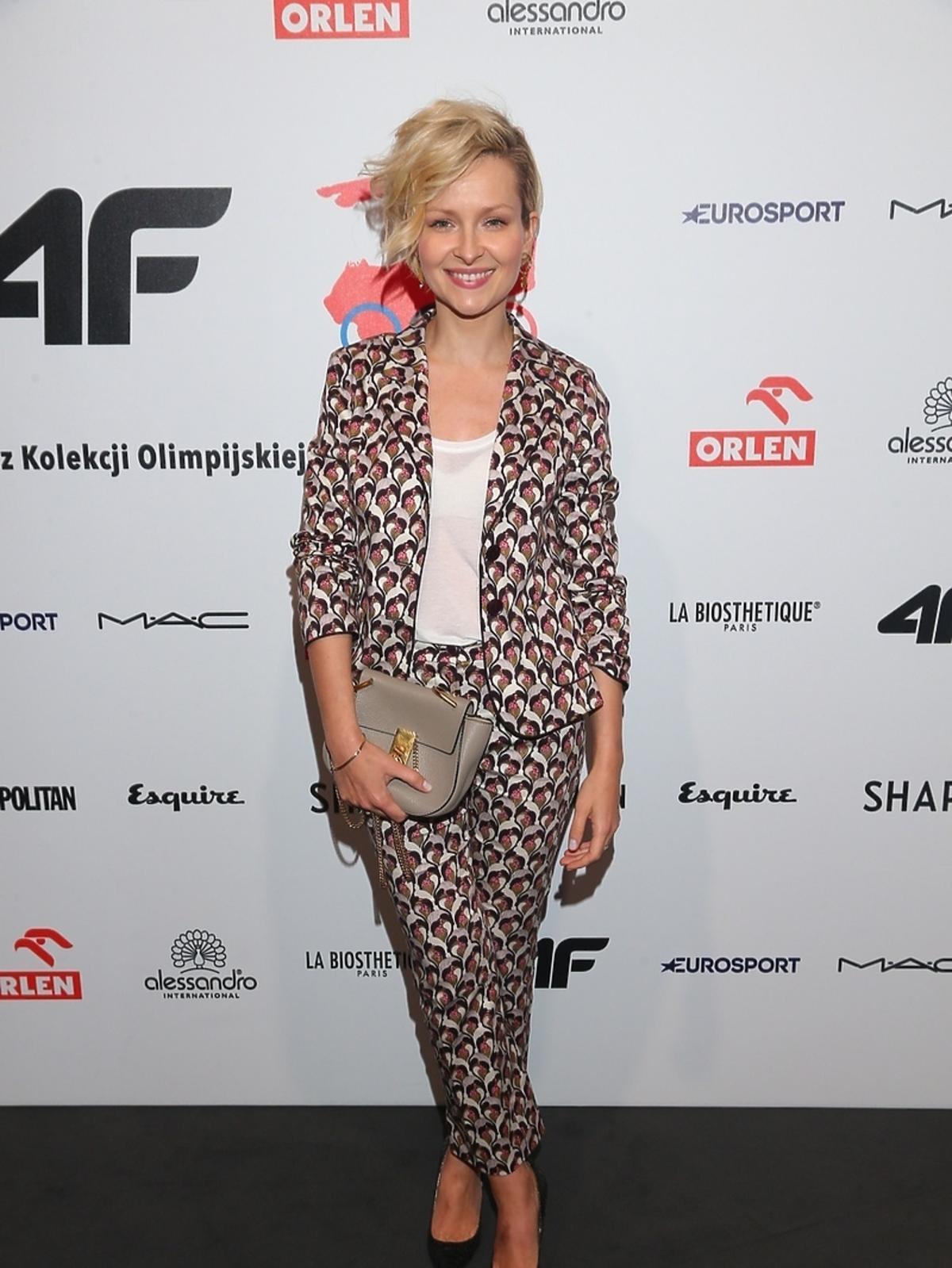Marieta Żukowska na pokazie kolekcji 4F