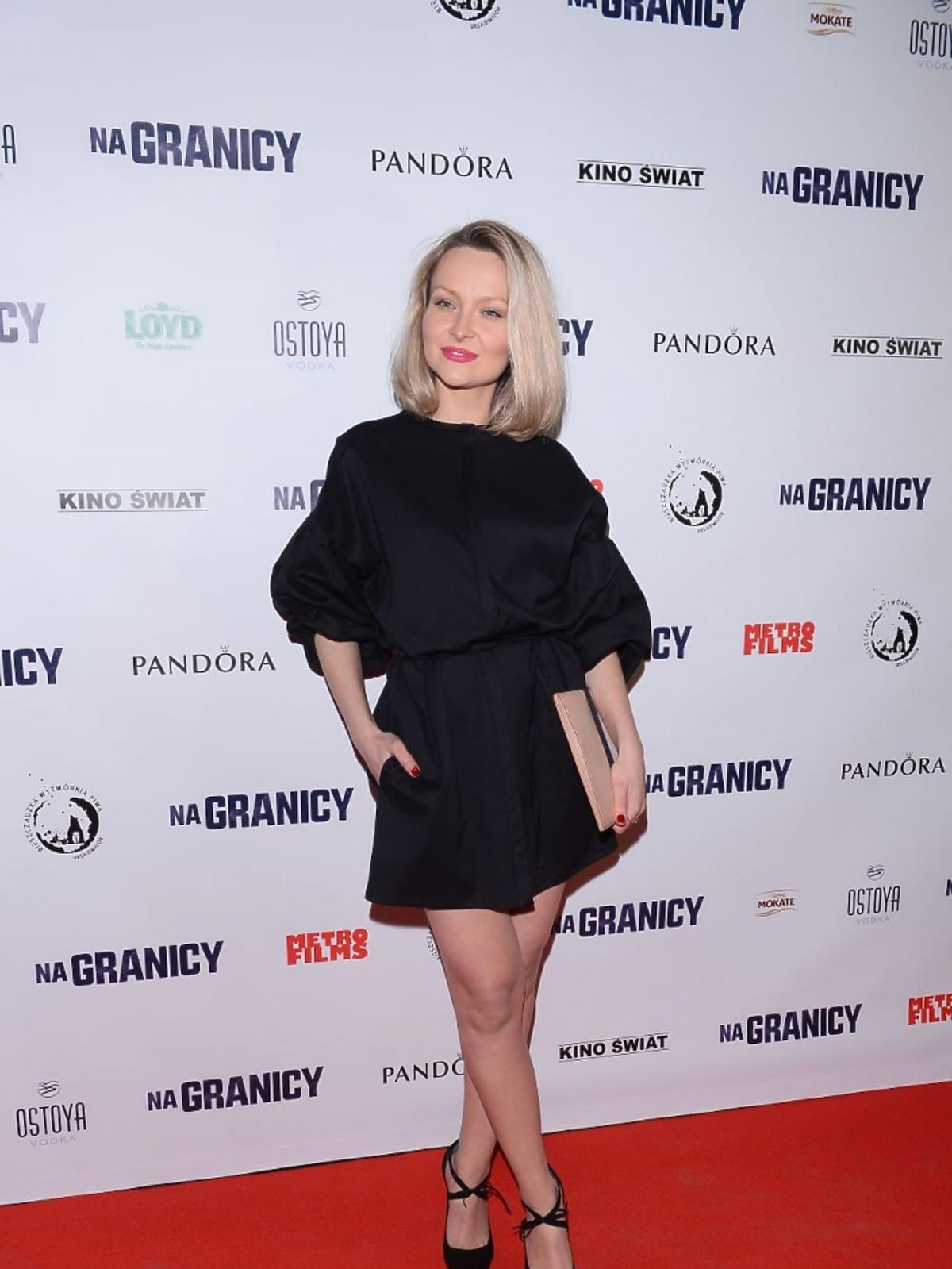 Marietta Żukowska w czarnej sukience