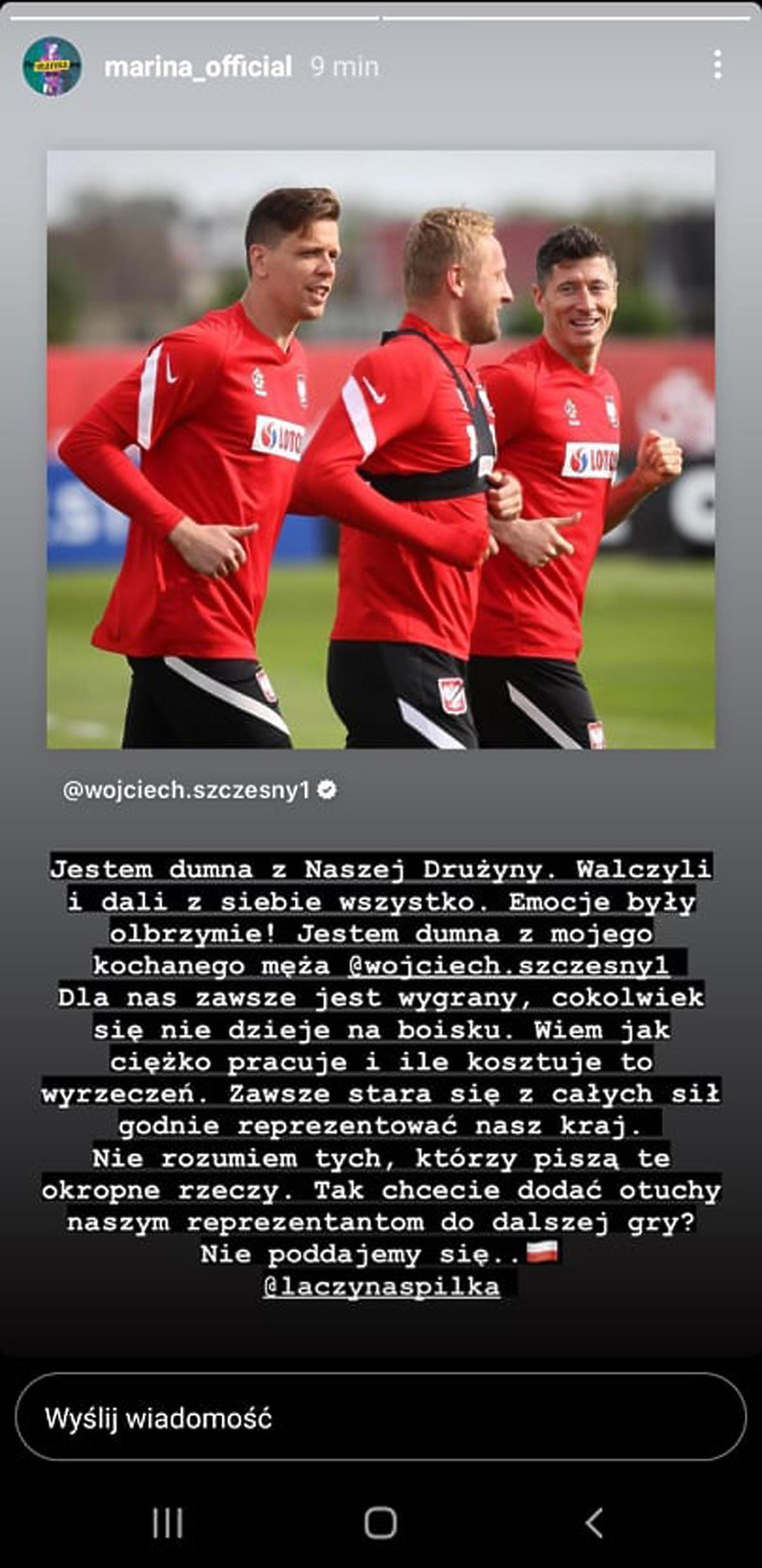 Marina broni polskiej reprezentacji