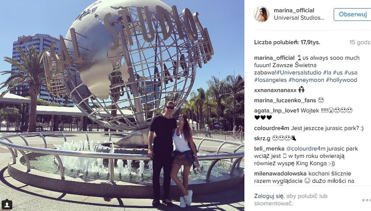 Marina i Szczęsny w podróży poślubnej!