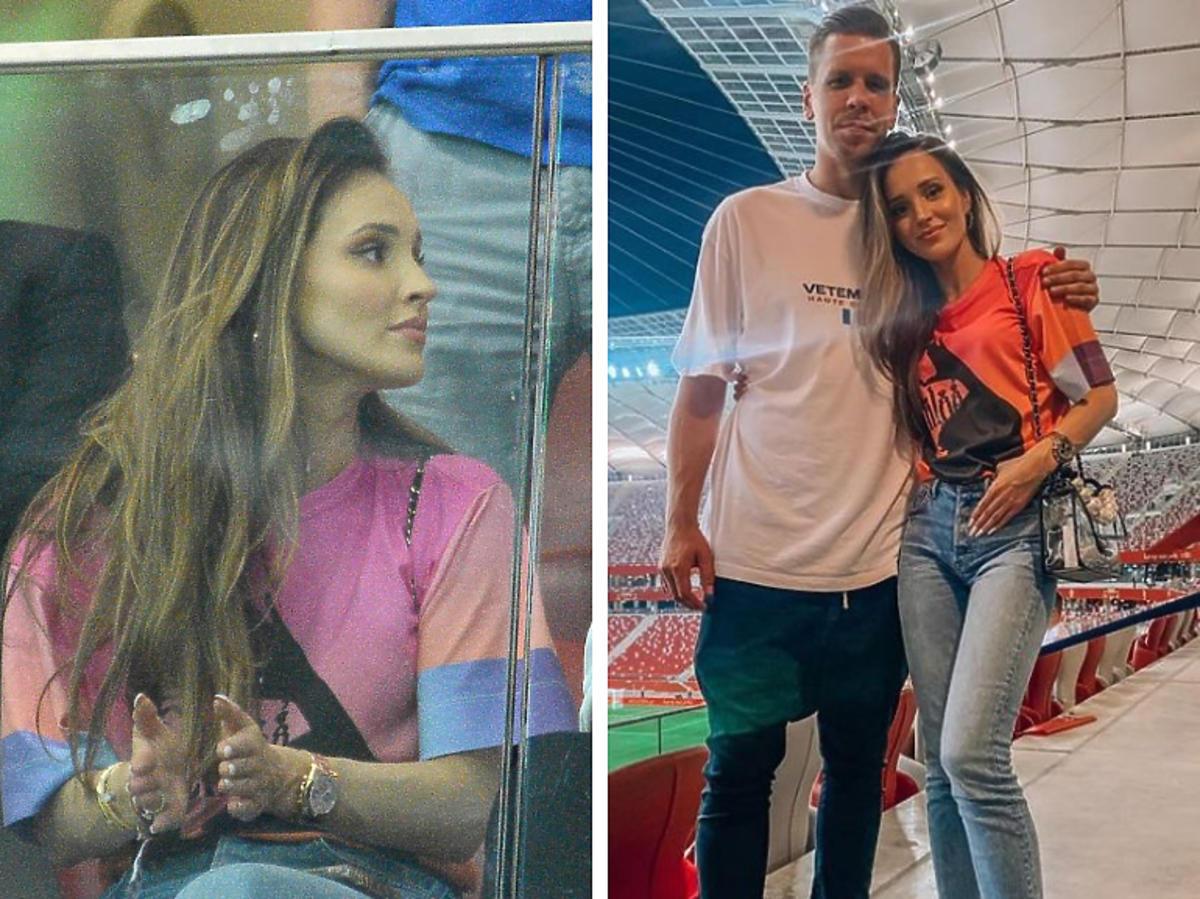 Marina i Wojciech Szczęsny na meczu Reprezentacji Polski