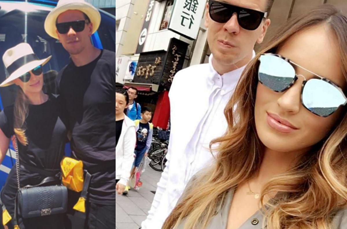Marina i Wojciech Szczęsny na wakacjach