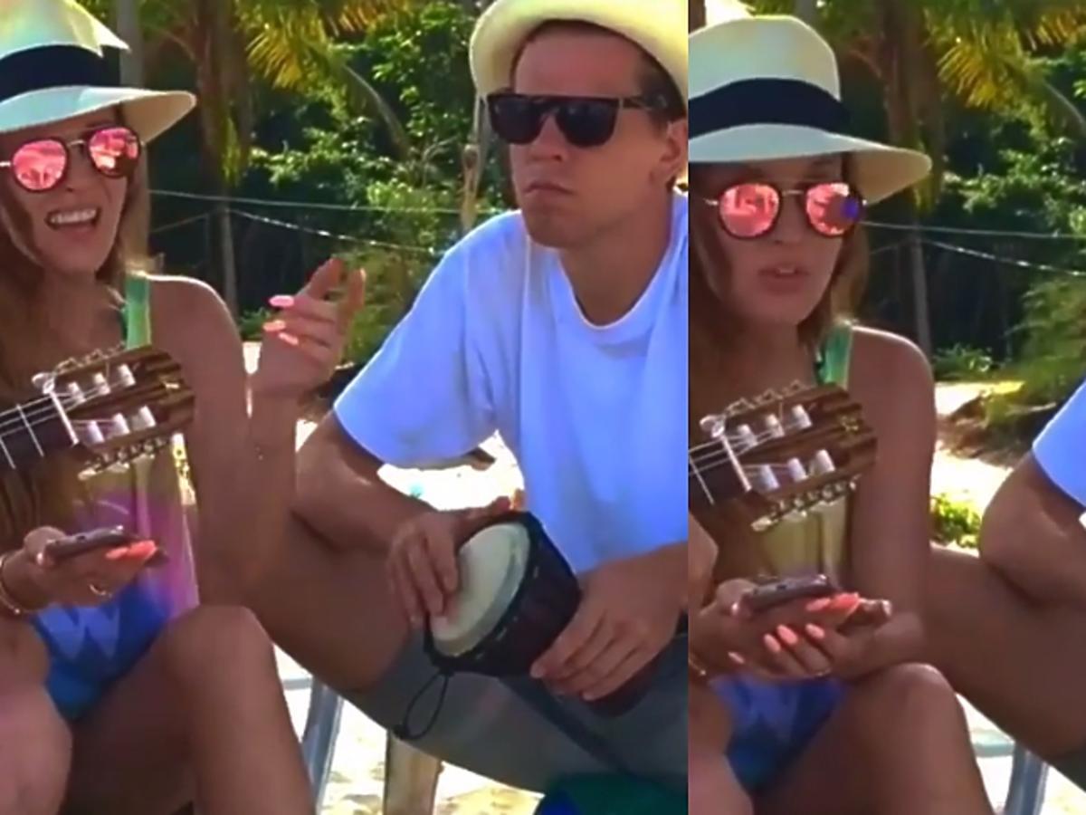 Marina i Wojciech Szczęsny na wakacjach w Tajlandii