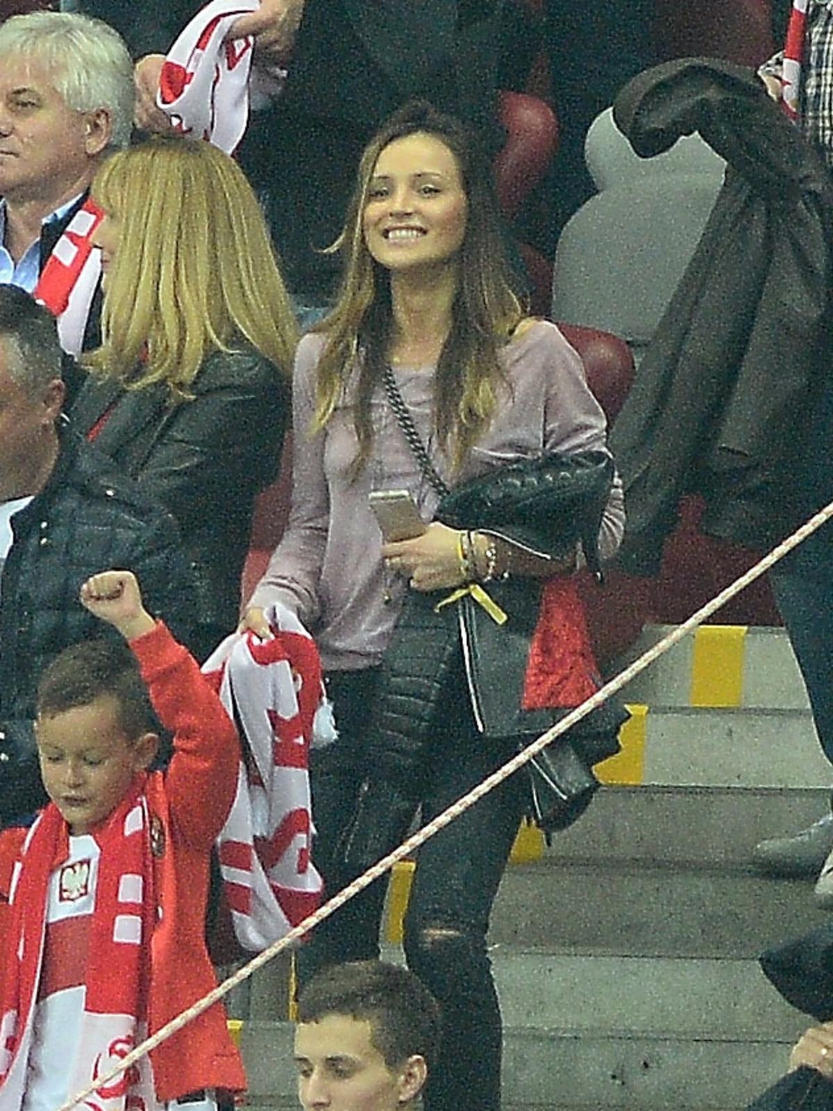Marina Łuczenko na meczu Polska - Niemcy