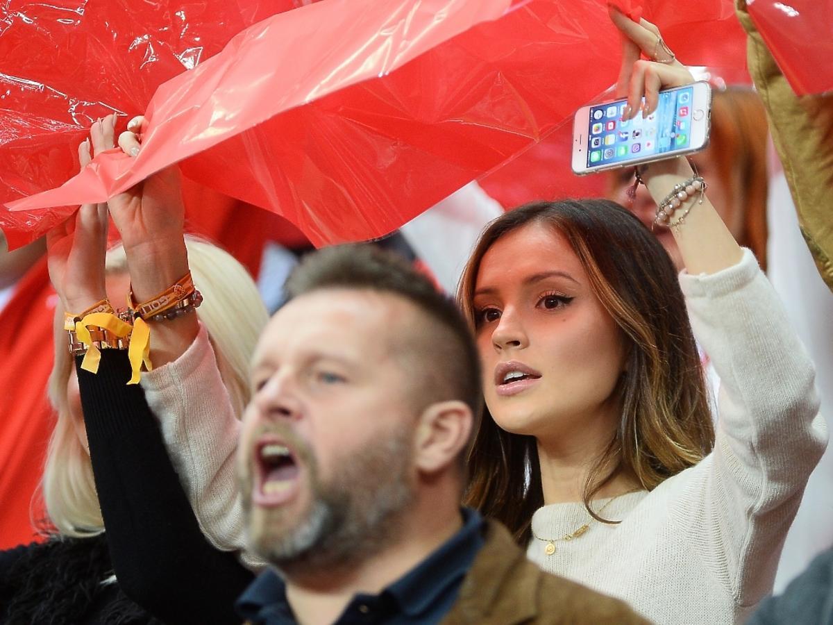 Marina Łuczenko na meczu Polska-Szkocja