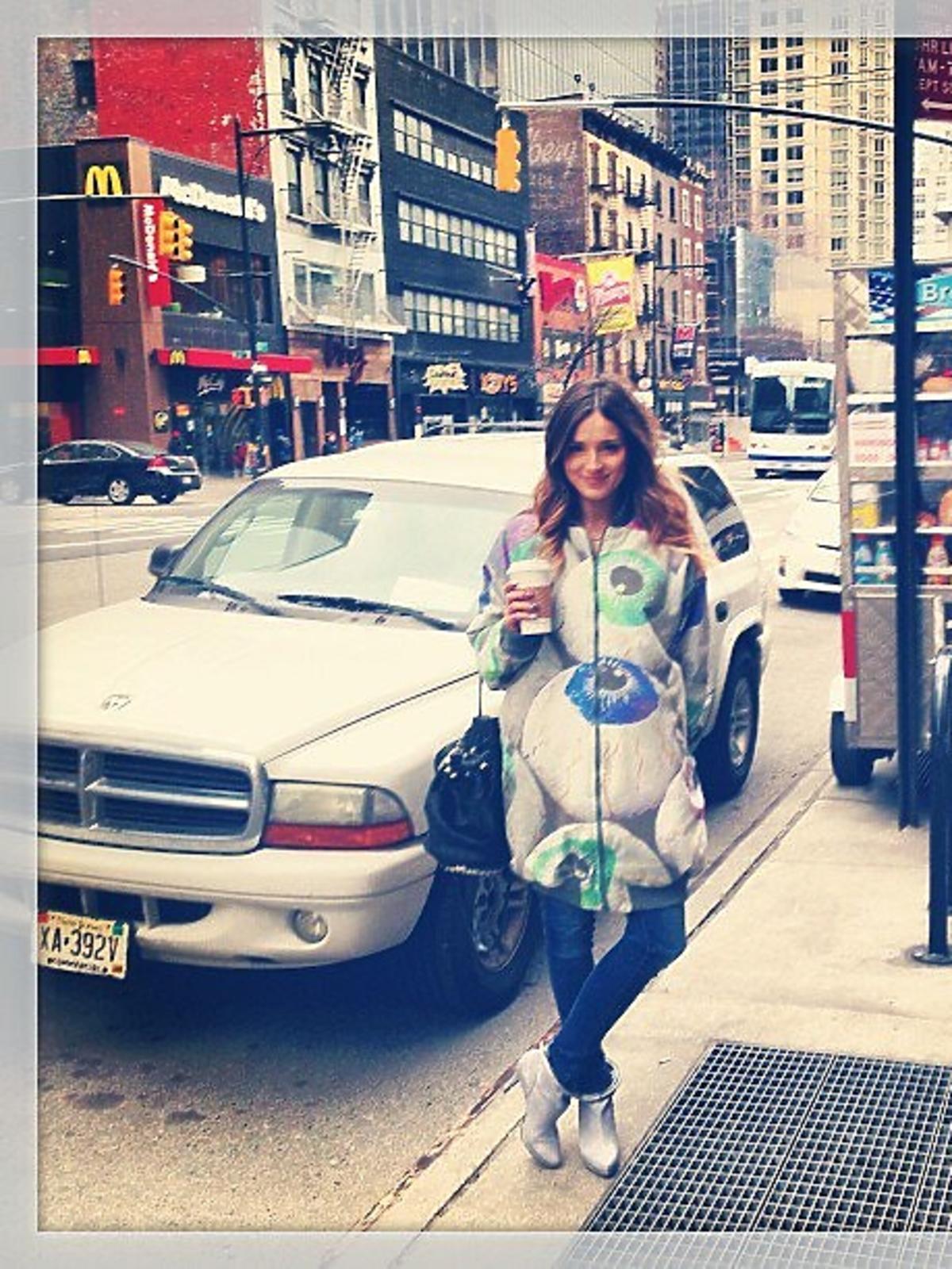 Marina Łuczenko na wakacjach w Nowym Jorku