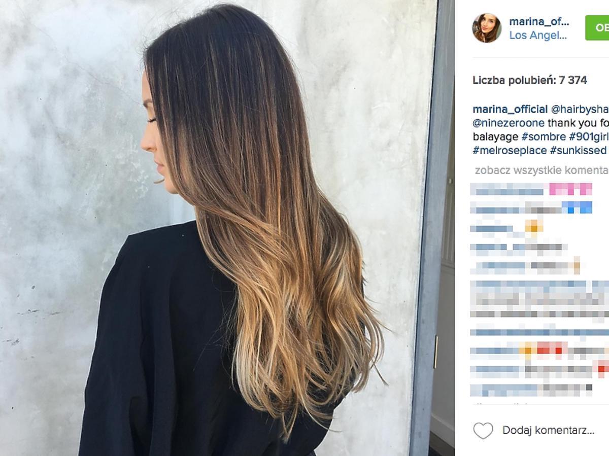 Marina ma nowy kolor wlosów blond pasma