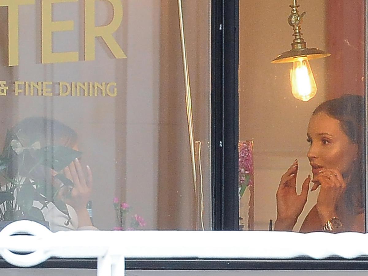 Marina na obiedzie w warszawskiej restauracji